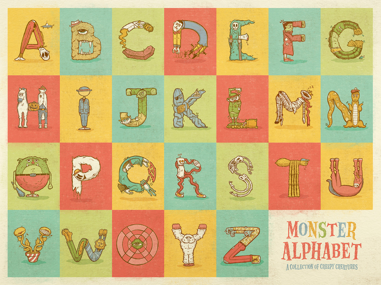 monster alphabet dedinsky creative